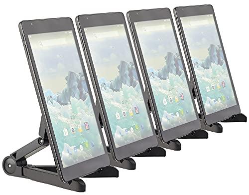 PEARL Faltbarer Tabletständer: 4er-Set Faltbare Tablet-Ständer für Tablet, Tablet-PC, E-Book-Reader (Faltbare Tablethalter)