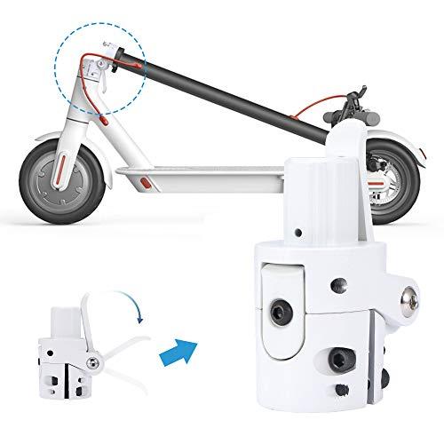 OurLeeme Base de Poste Plegable, Scooter eléctrico Tornillo de Bloqueo de Base de Poste Plegable para Scooter eléctrico Xiaomi M365 (Blanco)
