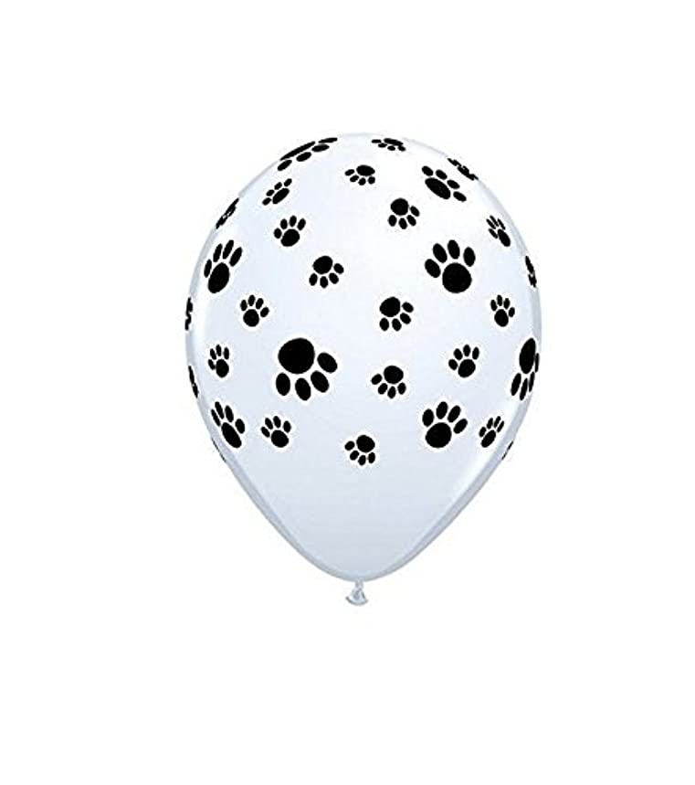 Set of 25 12 Inches White Dog Paw Latex Balloon Helium Reusable Ballons For Happy Birthday Party Congratulation Decoration Anniversary Festival Graduation Bouquet Gift Idea Celebration