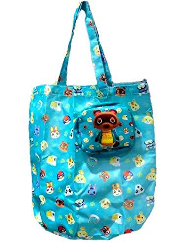 YUNDING Animal Crossing Geschenk Animal Crossing Peripherie Rick Animal Crossing Freunde Clubtasche Cartoon Folding Shopping Bag Umwelt Tragbare Aufbewahrungstasche