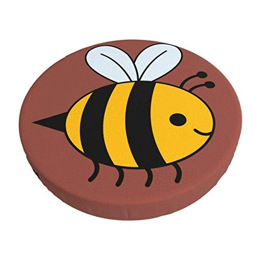 Bumble Bee - Funda de cojín para Silla con Barra Redonda, Antideslizante, Suave, Protector de Funda para Asiento, elástico, 12in ~ 14in