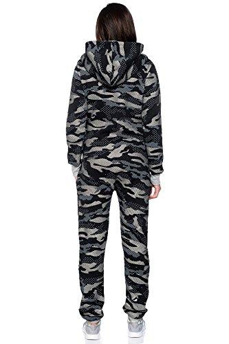 Crazy Age Jumpsuit Overall Einteiler CA 2840 Trendigen Camouflage Farben (Schwarz) - 4