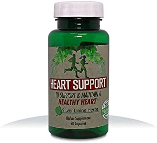Silver Lining Herbs Heart Support   Cholesterol & Blood Pressure Herbal Support for Heart & Circulatory Health Lowers BP N...