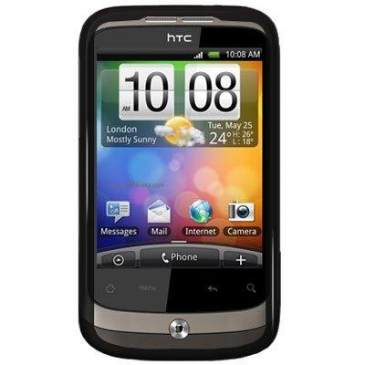 HTC Wildfire Smartphone ( 5MP Kamera, Touchscreen, 2 GB micro SD; Facebook, Twitter, Android 2.1; 1und1 Branding) schwarz