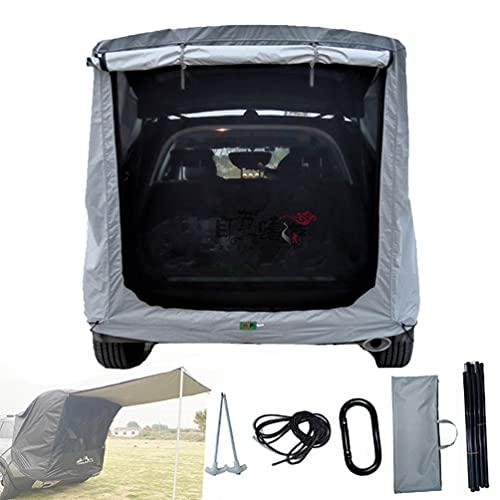 BrightFootBook SUV - Tienda Avance para Furgonetas de Camping, Carpa De Maletero para Coche, Autoconducción, Camping, Parasol Y Resistente a La Lluvia, Tienda De Campaña De Viaje,Silver-M