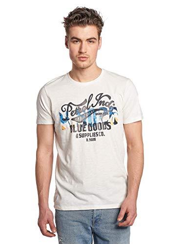 Petrol Industries Herren M-SS18-TSR602 T-Shirt, Weiß (Smokey Cloud), XXL