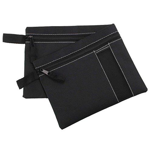 Set van 2 organizer-tassen met ritssluiting, documententas met ritssluiting, handtassen-organizer, zwart map voor reisdocumenten
