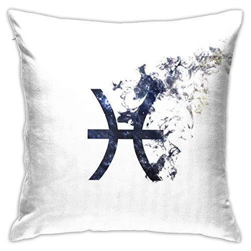 Ahdyr Funda de Almohada Decorativa Signo del Zodiaco Piscis Funda de Almohada 18x18 Pulgadas Impresión a Doble Cara para sofá Sofá Hogar Coche Dormitorio Sala de Estar Decoración