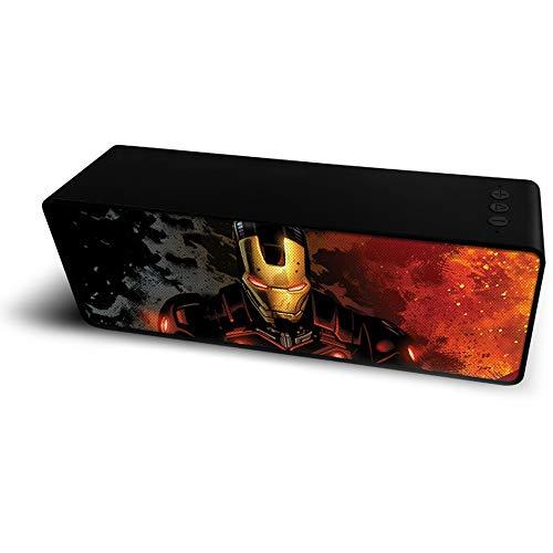 ERT GROUP Marvel Iron Man Altavoz Bluetooth Portátil de 10 W, Batería Recargable, Ranura para Tarjeta Micro SD y Flash USB, Adecuado para Teléfonos, Tabletas, Computadoras Portátiles y más