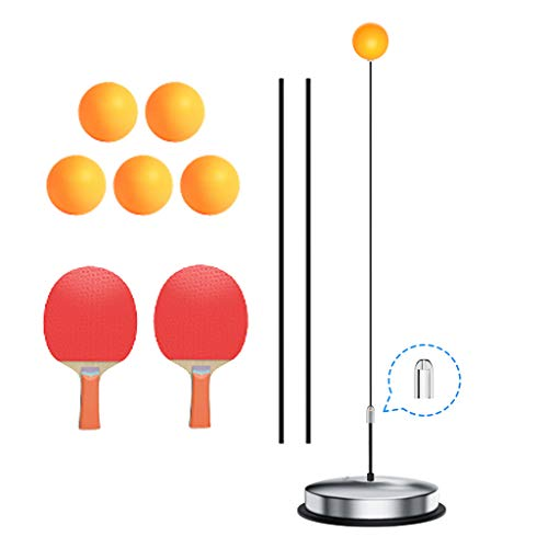 Best Buy! Table Tennis Trainer Stainless Steel Chassis Flexible Shaft Ping Pong Ball Training Adult ...