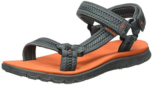 Northland Damen Bergon Ls Sandal Plateau, Grau (Grey/Orange 0), 40 EU