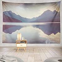 Jbralid 山と美しい湖 おしゃれで快適です 壁掛け 装飾布 インテリア ウォールアート 多機能 室内 窓や壁の飾り パーティー用 お店 オリジナルプレゼント
