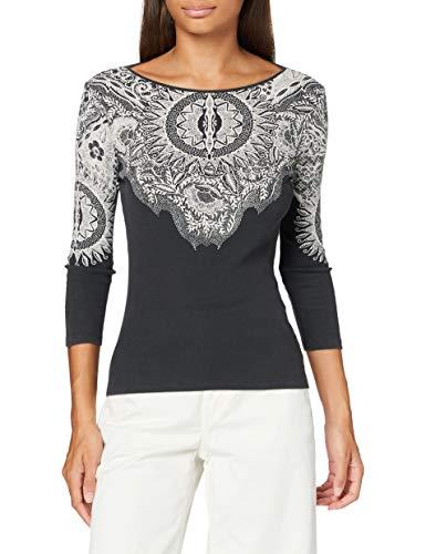 Desigual TS_Michigan Camiseta, Negro, M para Mujer