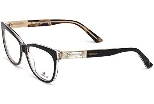 SWAROVSKI for woman sk5091 – 005, Designer Eyeglasses Caliber 56, Black, 56-14-140