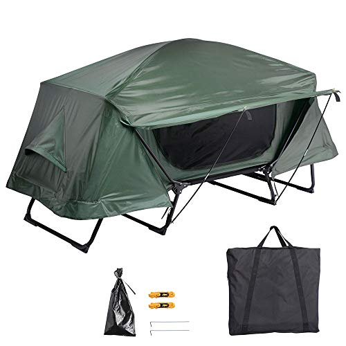 Yescom Folding Single Tent Cot Oversized Camping Hiking Bed Portable Outdoor Rain Fly, Green