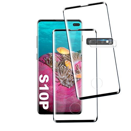 """Verre Trempé pour Galaxy S10 Plus, [2 Pièces] [Compatible avec Lecteur d'Empreinte] [Ultra Claire] [Dureté 9H] Protection écran pour Samsung Galaxy S10 Plus [6.7""""]"""