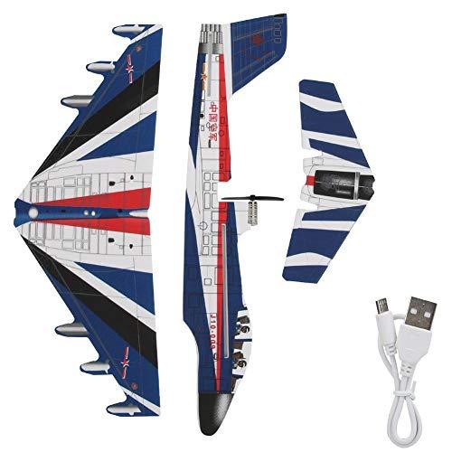 Vbest life Carga USB EPP eléctrico Foam Fighter Electric Flying Fighter Lanzamiento de Mano Avión Niños Asamblea Juguetes