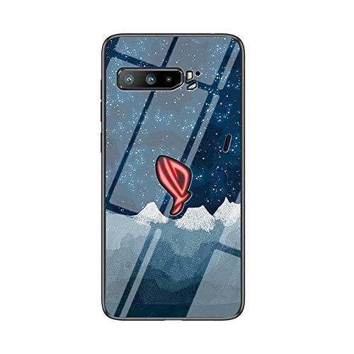 BaiFu Funda para ASUS ROG Phone 3 ZS661KS Cubierta de Cristal Degradado...