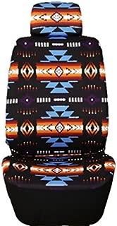 Nu Trendz Southwest Design/Navajo Print Car Seat Cover Set (Black)