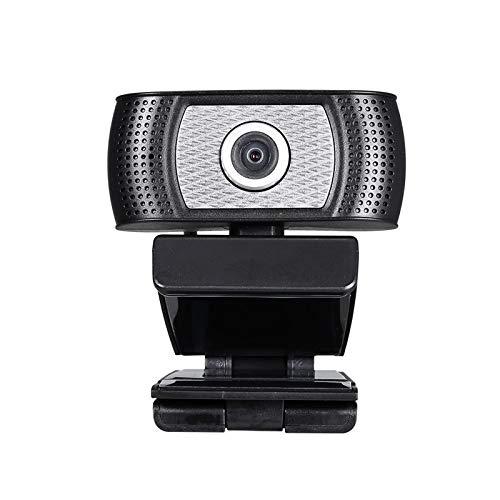 QinWenYan Cámara Web 720p HD Webcam 30FPS Cámara Web 360 ° Rotación De Rotación Micrófono De Reducción De Ruido para Conferencias y Videollamadas (Color : Black, Size : 720P)
