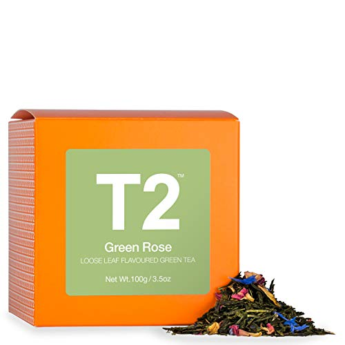 T2 Tea - Green Rose Green Tea, Loose Leaf Green Tea in a Box, 100g