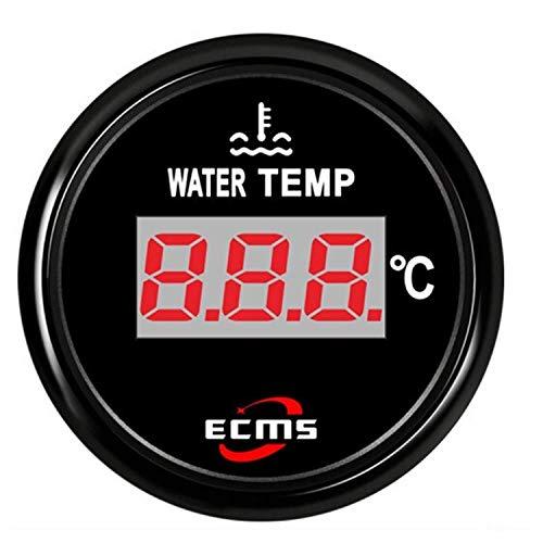"BBINGFANG-W Instrumententafeln Instrumententafel Universal-2"" Messgerät Digitale Wassertemperatur Temperatur-Messgerät 40-120 for Boots-Auto-Yacht 12V 24V mit Hintergrundbeleuchtung for Motoren, Schif"