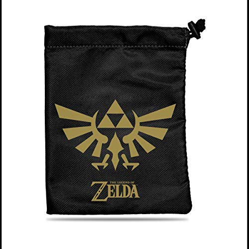 Ultra Pro Legend of Zelda: Black & Gold Treasure Nest Dice Bag