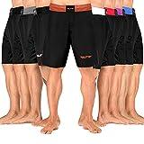 Elite Sports Men's MMA Fight Shorts, Black Jack UFC, BJJ, No Gi, Grappling, Jiu Jitsu Shorts (Brown, Small)