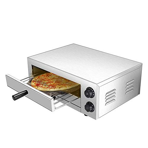 16'' Electric Countertop Pizza Oven, Stainless Steel Commercial Pizza Oven Deluxe Pizza and Multipurpose Oven,for Restaurant Home Pizza Pretzels Baked Roast Yakitori Commercial & Kitchen Use