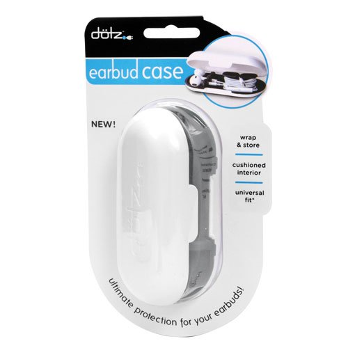 Dotz Earbud Case for Cord and Cable Management, Black (EBC38M-CK)