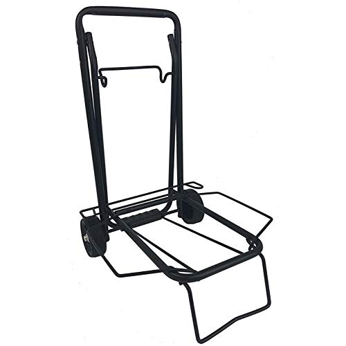 75 lb. Folding Multi-Use Cart Travel Luggage Cart, Black