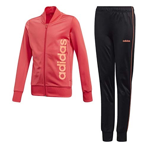 adidas Mädchen YG PES TS Tracksuit, core pink/Black, 1112Y