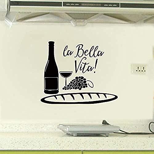 Wandaufkleber Esskultur Weinflasche Wandaufkleber Restaurant Küche Kreative Dekorative Aufkleber