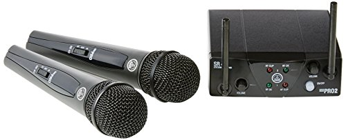 AKG WMS 40 Pro mini 2 - Micrófono inalámbrico (2 canales, banda UHF), color negro