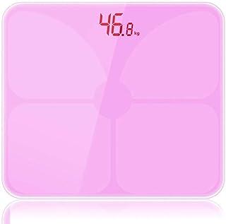 DMIZ Baño de Carga USB Inteligente de Grasa Corporal balanza Digital Báscula Peso Corporal Health Monitor (Color : Pink)