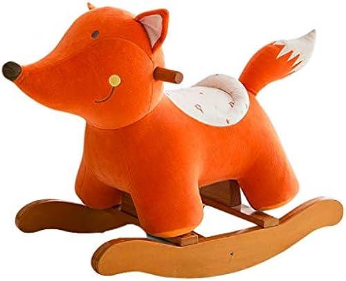 HUXIUPING Musik-Schaukelpferd-h ernes festes Holz-Kinderbabyspielzeug-Schaukelpferd-Schaukelstuhl