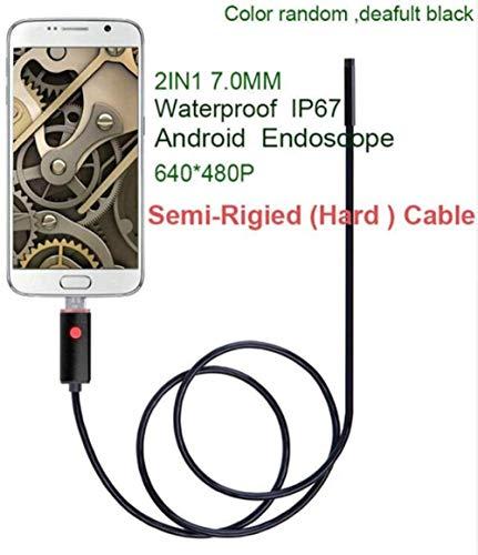 YAYY Nieuwe 5 5mm 7/8mm 1M 2M 5M 10M USB Kabel Waterdichte 6LED Android Endoscope 1/9 CMOS Mini USB Endoscope Inspectie Camera Borescope 5 5mmlens480p 5M(Upgrade)