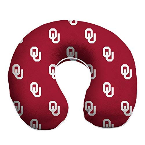 Pegasus Sports Oklahoma Sooners Travel Relaxation Memory Foam Neck Pillow Premium Memory Foam Melds to Your Neck. It has a Removable, Washable Very Soft Yet Durable Microplush Cover.