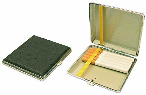 Edles 20er Designer-Zigarettenetui CHAMP Straußenleder-Look NEU