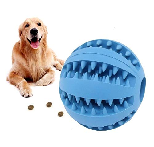 HESHPAWS Dog Toy Balls,IQ Treat Balls,Fun Interactive Food Dispensing Dog Toys, Non-Toxic Natural Rubber Tooth Cleaning Toys for Pet Tooth Cleaning/Chewing/Playing/Treat Dispensing