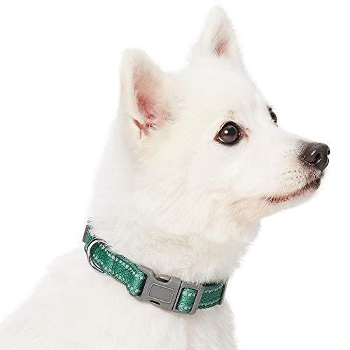Umi. Essential, Collare per Cani Catarifrangente, Taglia S, Collo 30-40 cm, Regolabile, Colore Pastello Verde Pino