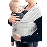 Baby Sling Carrier | Essential for Newborn & Toddlers | One-Size Fits All | Matching Carry Bag (Grey)