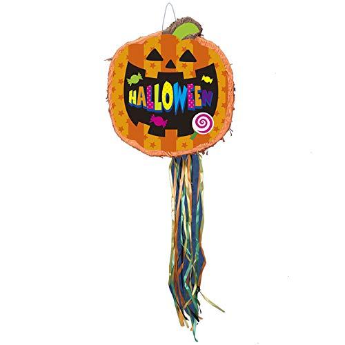 「ハロウィン ピニャータ フラットパンプキン」 紙製くす玉 飾り ハロウィン飾り ハンギングデコレーション