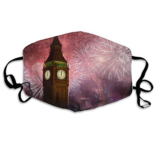 Polyester Anti-Dust Mond Masker - Mysterieuze Constellatie Weegschaal Art Gewassen Herbruikbare Mond-Muffel - Mode Gedrukte Gezichtsmaskers voor Outdoor Fietsen Eén maat Big Ben Klok in Londen