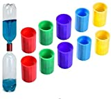 FEAYEA Tornado Tube Bottle Connector Cyclone Tube for Scientific Experiment, Vortex Bottle Connector,10Pieces 5 Colors