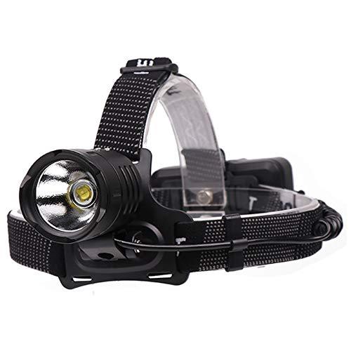 whbage Stirnlampe, leistungsstarke LED-Stirnlampe, 18650, Akku-Upgrade