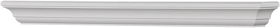 Mantels Direct Colton 60-Inch Fireplace Mantel Shelf, White