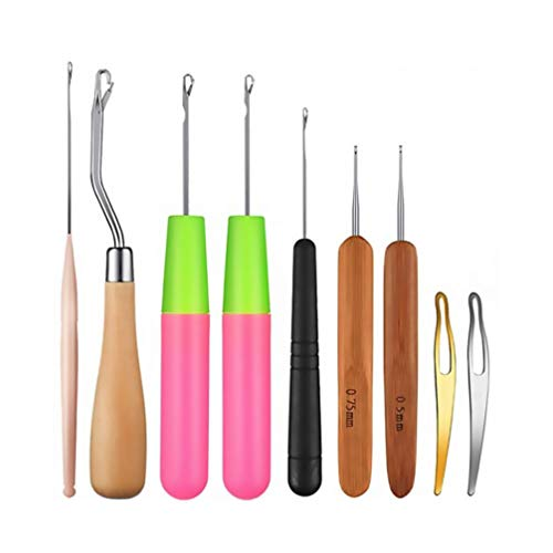 Artibetter 1 Set / 9 Stuks Haaknaalden Set Tomorotec Art Aluminium Breinaalden Met Sylish Opbergtas Voor Hairstyling Handgemaakte Naaigaren Craft