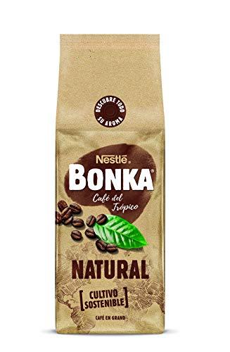 BONKA Café en grano de tueste Natural y de cultivo sostenible - Paquete de Café en grano de 10 x 500 g- Total: 5 kg