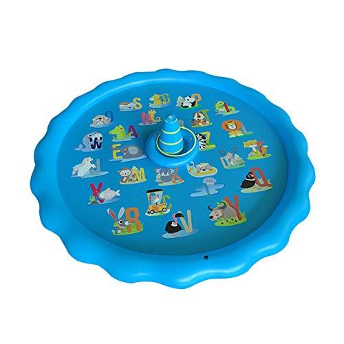 Aspersor inflable para niños, piscina inflable al aire libre, piscina de 67 pulgadas para rociadores para niños, alfombra de juego para niños, piscina infantil, juguetes divertidos para bebés y niños